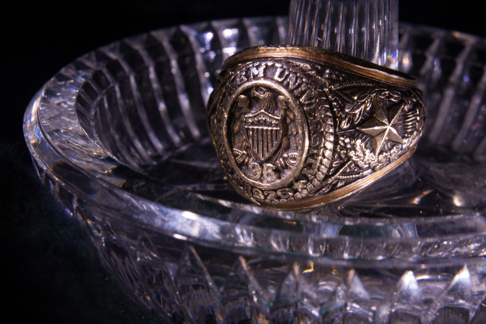 Aggie Ring on crystal